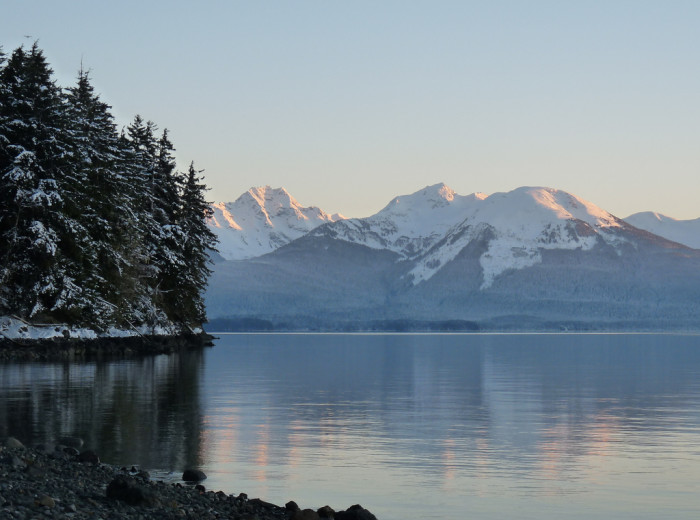 1) Mountains on Admiralty Island.