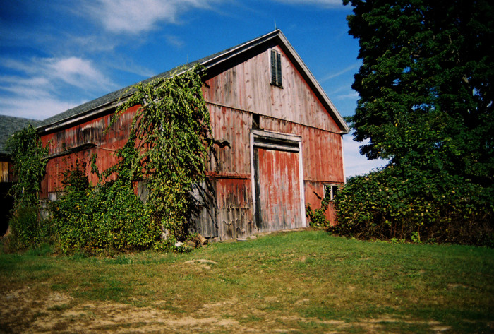 12. Drive by this rustic and beautiful barn at 195 Howe Street, East Brookfield.