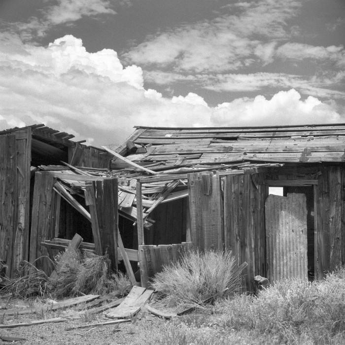 12. The ruin of a cabin in Goldfield, Nevada.