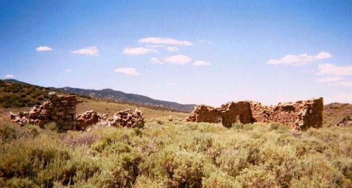 8. The ruins of Hamilton, Nevada.