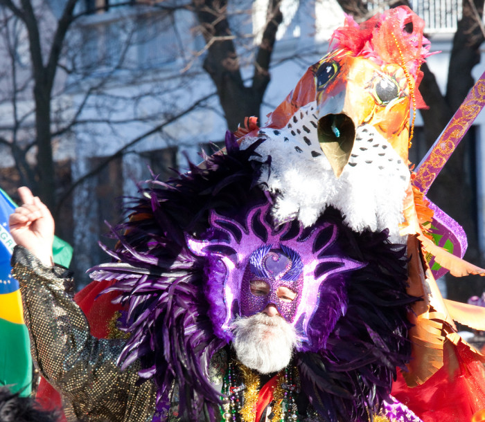 8.  Mardi Gras in Burlington brings out all kinds of characters.