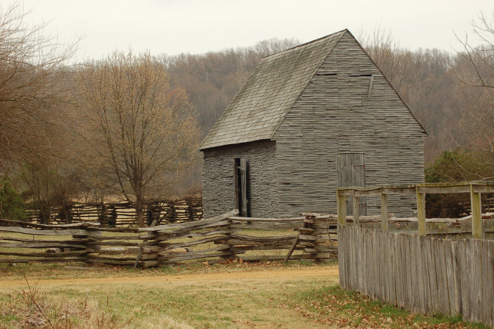 6) This tobacco barn at National Colonial Farm in Accoceek is full of so much character.