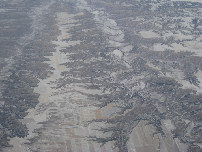 2. Look at these amazing patterns etched into the landscape.