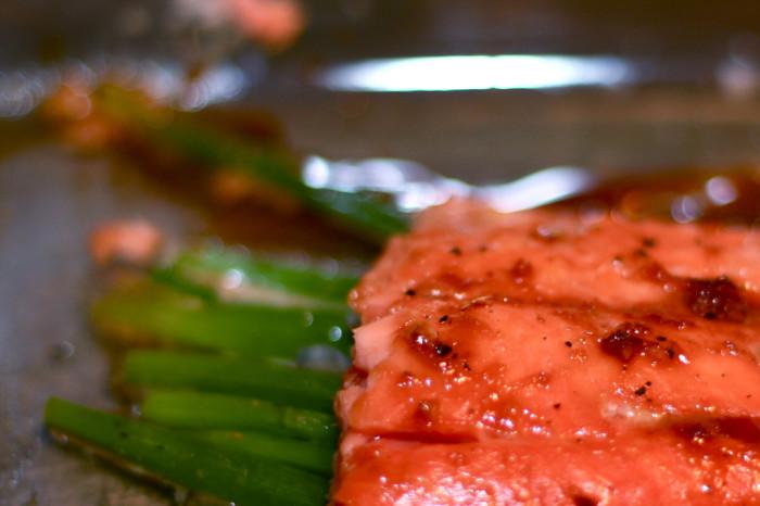 1.  Salmon with maple glaze