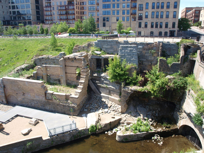 5. Similar to Mill City Museum, neighboring Mill Ruins Park shows some of the most interesting pieces left from Minneapolis' milling industry in a fun outdoor exhibit below the Stone Arch Bridge.