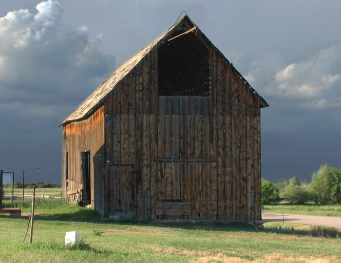 Old barn in St. Charles, Idaho