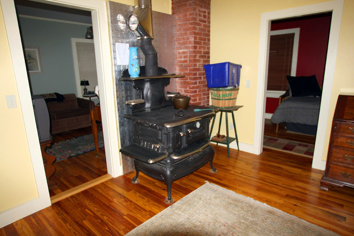 3. We run our wood stoves with the windows open.