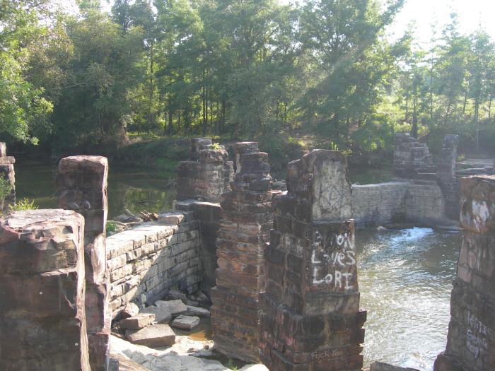 6. Boshell Mill Dam Ruins - Nauvoo, AL