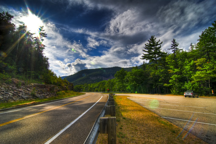16. You can drive the Kancamagus Highway.