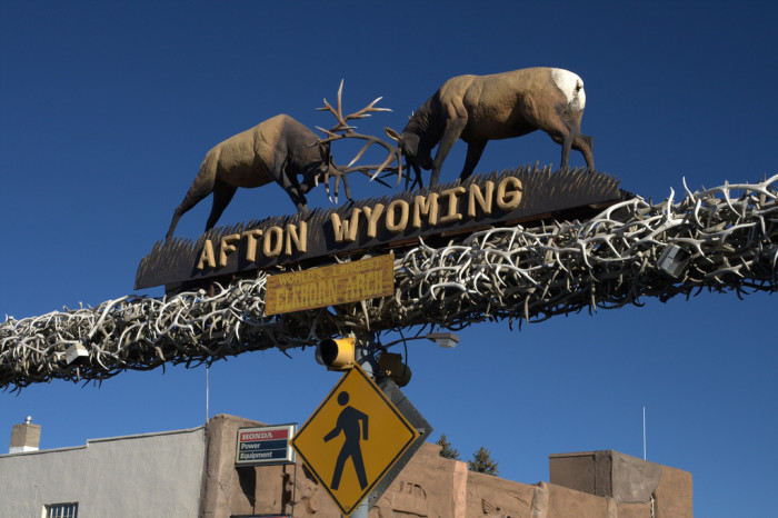 12. If they live in a town (Afton) with an arch made out of 3,011 elk antlers.