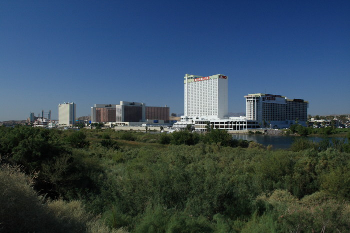 3. The skyline view of downtown Laughlin, Nevada.