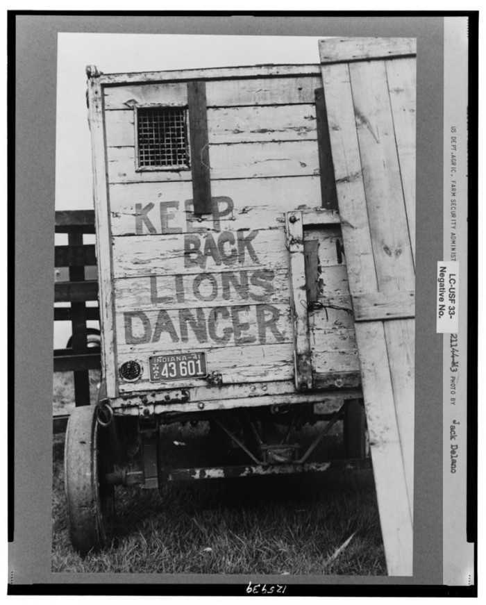 24.  Lion's cage at the Champlain Valley Exposition, Essex Junction, Vermont.