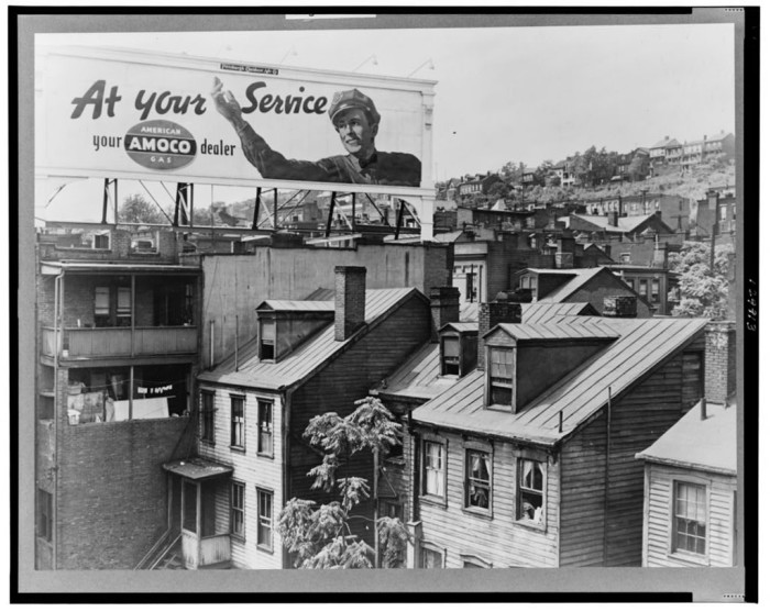 9. Yet more houses along Boulevard of Allies. What a groovy, retro billboard in the background of this photograph.
