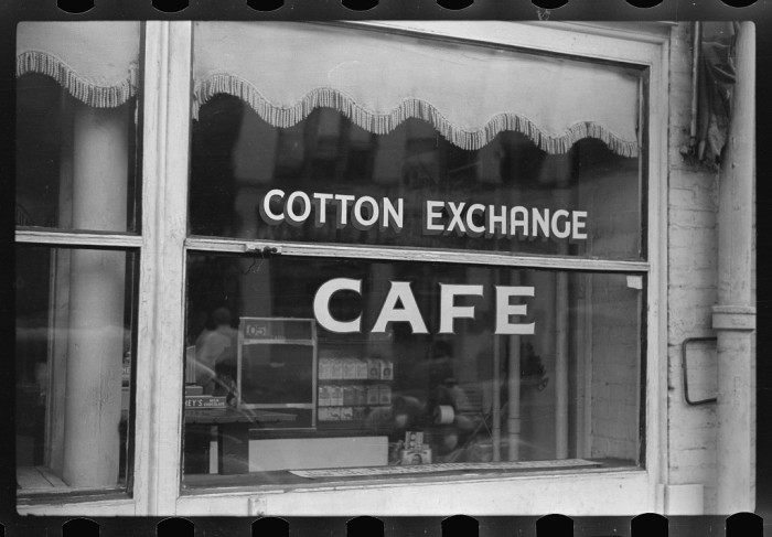 4) Cafe on Cotton Row.