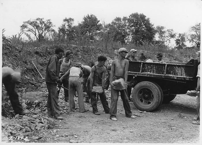 4.CCC boys quarrying lime rock.