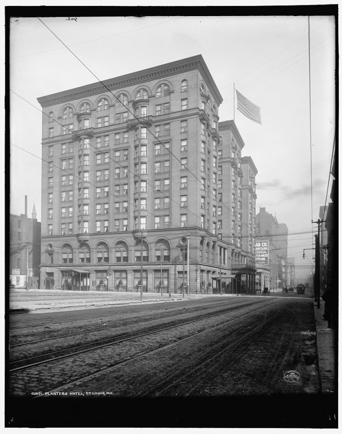 4.	Historic American Buildings Survey photo of the Planters Hotel in St. Louis, 1950.