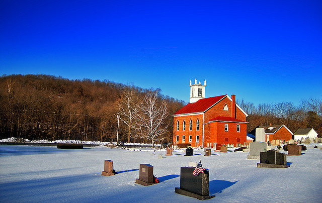 2. There's one word for everything in rural PA: quaint. Check out this peaceful roadside church and cemetery in Berks County.
