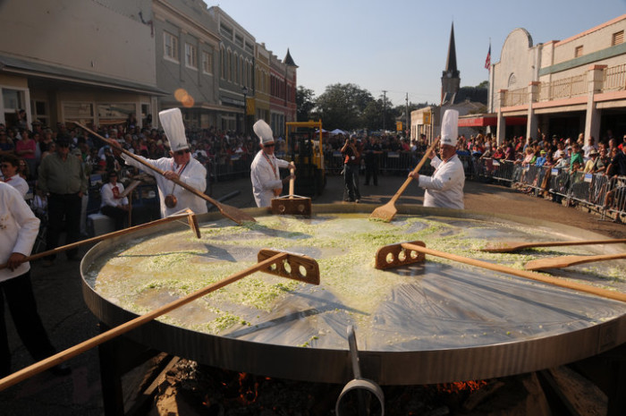 3. Giant Omelette Celebration, Abbeville, LA