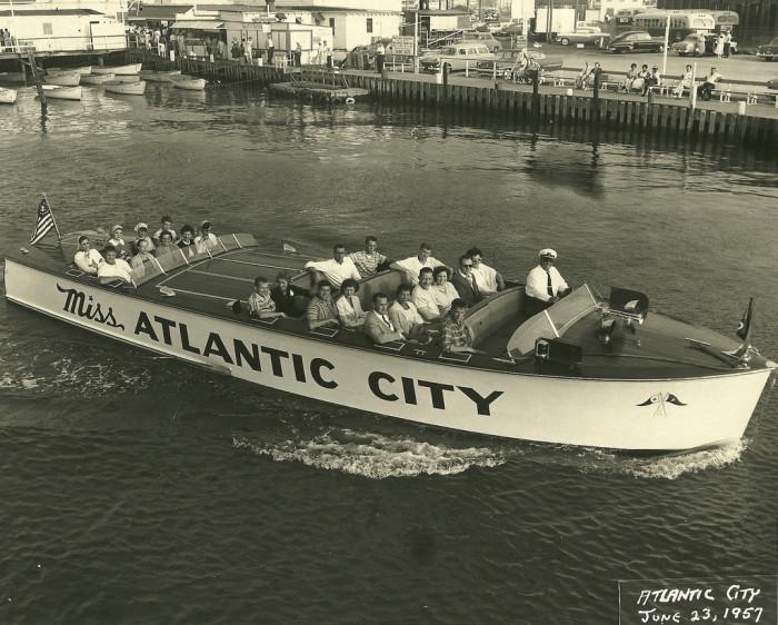 8. Atlantic City harbor cruise in 1957.