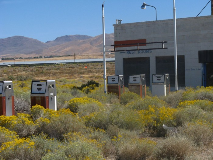 8. I'm sure it's been quite some time since this gas station in Winnemucca has seen any cars.