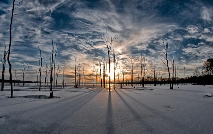 5. A striking shot of the always stunning Manasquan Reservoir.