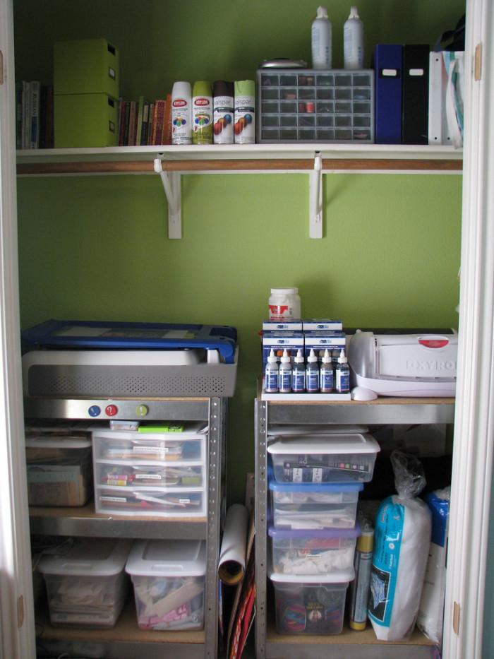 1. A craft closet.