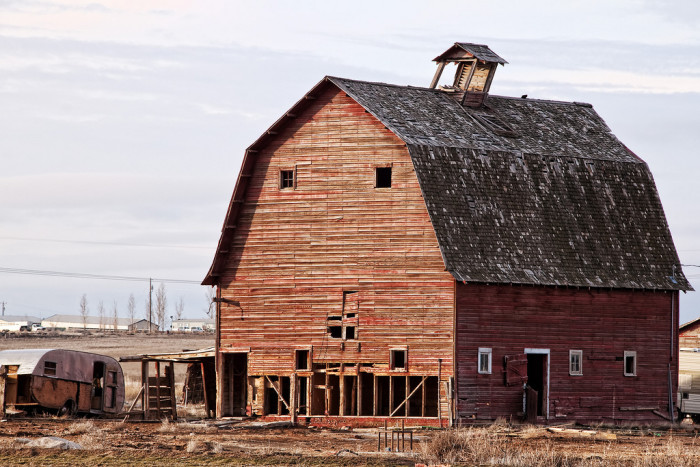 Old barn in Nampa, Idaho