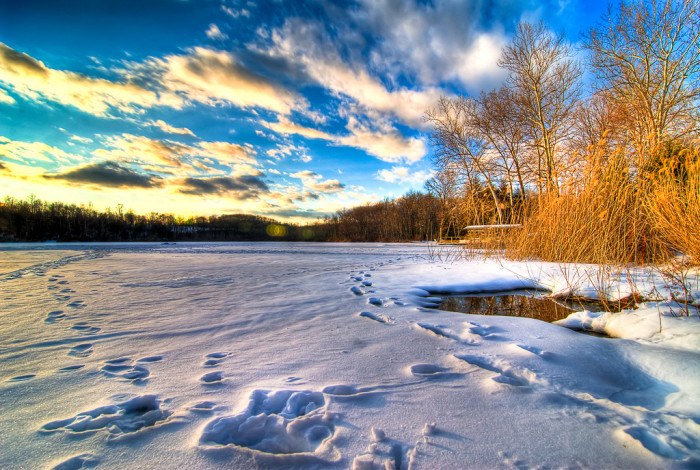 1. A gorgeous winter shot snapped in Hope.