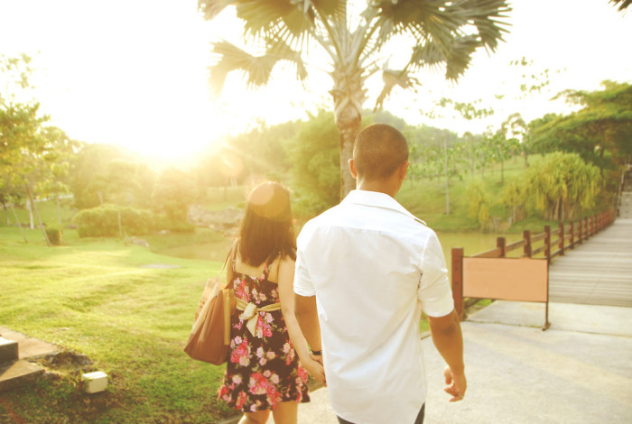 3. To long, leisurely walks together, just enjoying the great outdoors...