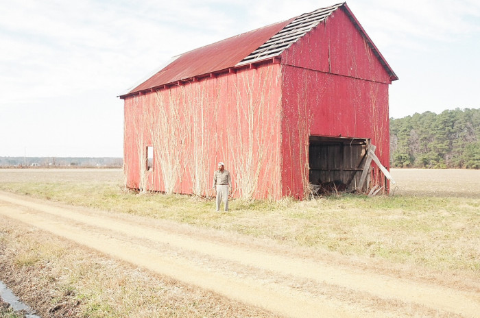 2) A classic red barn in St. Mary's County.