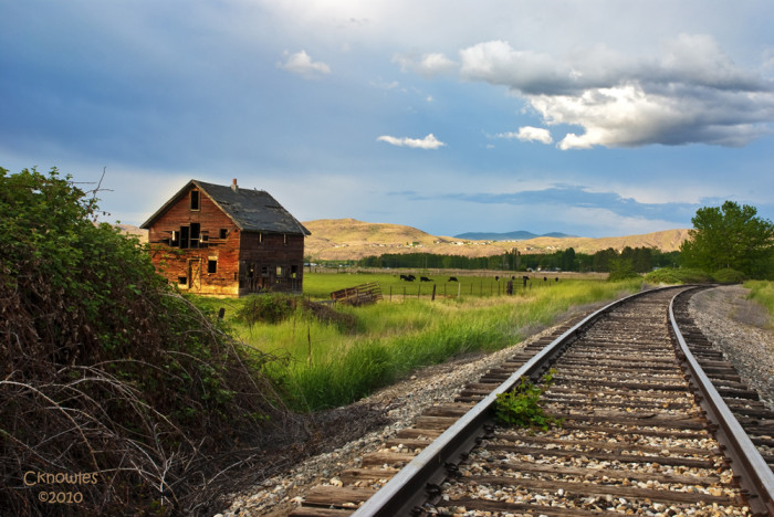 Old barn in Emmett, Idaho