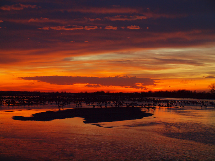 8. This sunset over the North Platte River looks like a scene from some far-away planet.