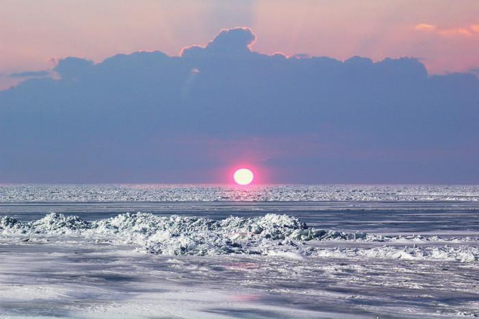 8. Lake Erie winter sunrise