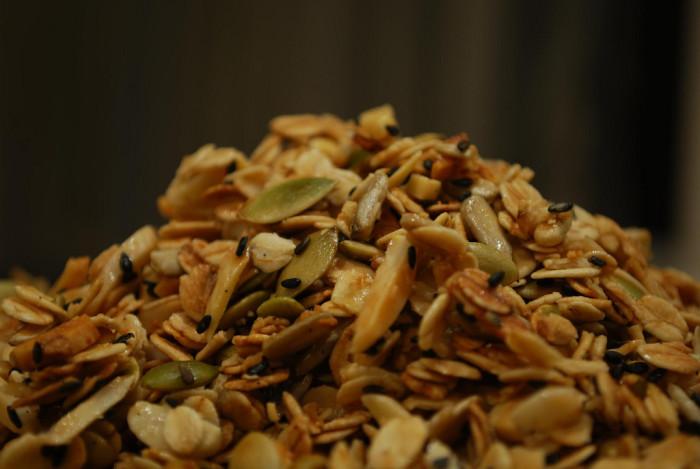 17.  A mountain of sweet granola.
