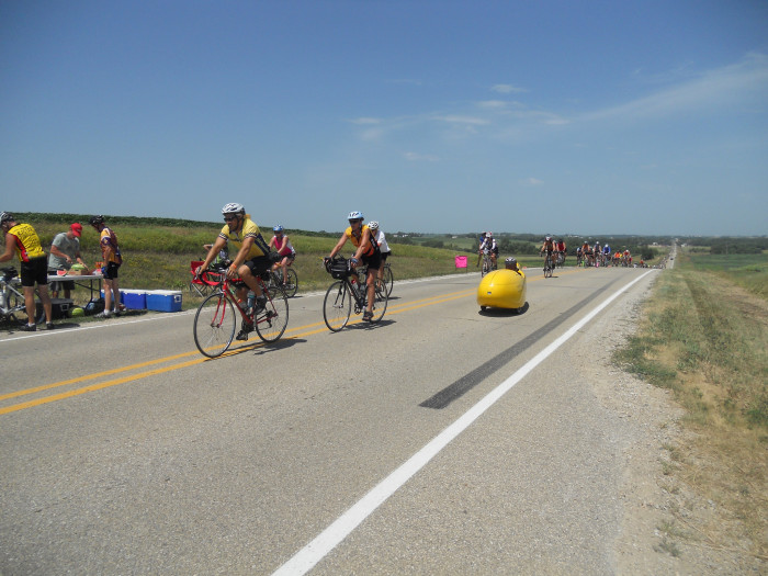4. We ride 400 miles across the state on our bikes with thousands of other people while partying intensely and staying with strangers for a week.