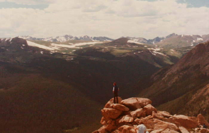 "17. ""Man looking at a Rocky Mountain view."" (1979)"