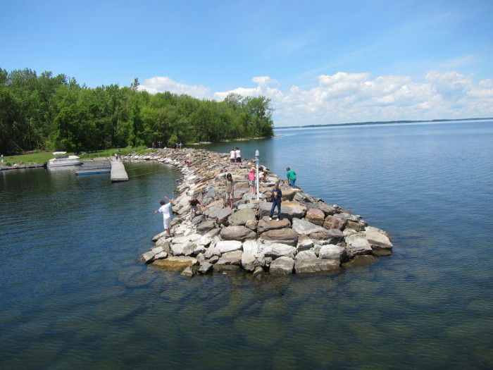 8.  Go fishing off the breakwater.