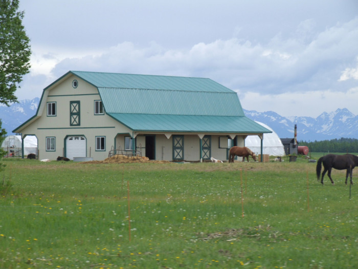 7) A horse farm in the country.