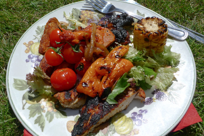 12.  Maple Glazed Pork and Apple Kebabs