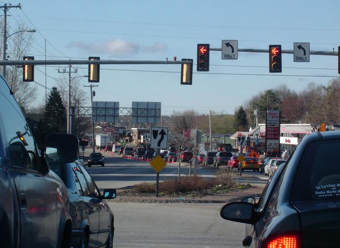 11. Springtime roadway construction.