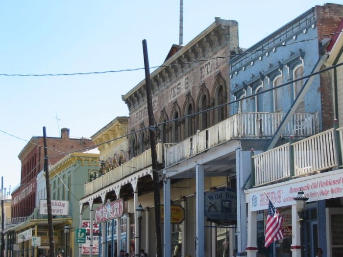 9. This fantastic view was captured along C Street in Virginia City, Nevada.