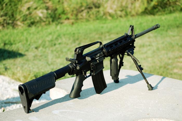 4. Shoot an assault rifle