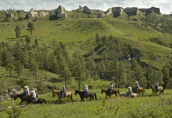 4. The bluffs at Fort Robinson State Park, Crawford