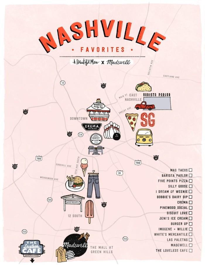 5) A fun Nashville map from Elsie Larsen