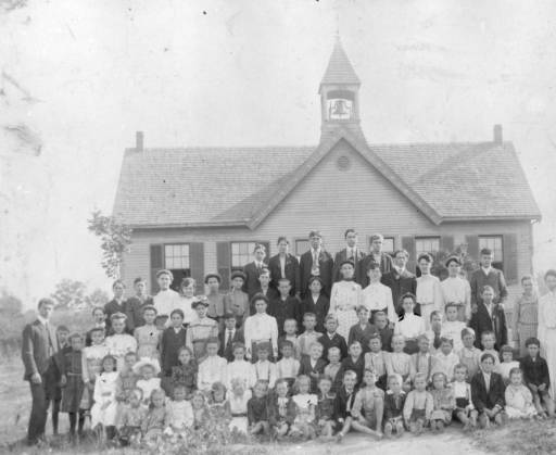 5) Here's a group of students at the Hopewell School