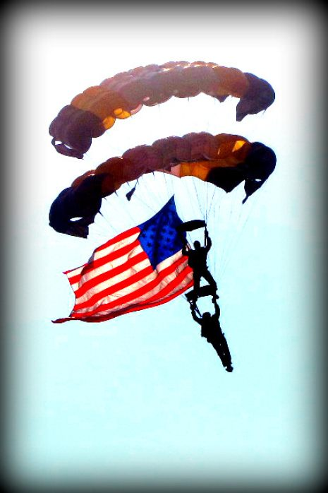 5. Skydivers, Fourth of July, Columbia