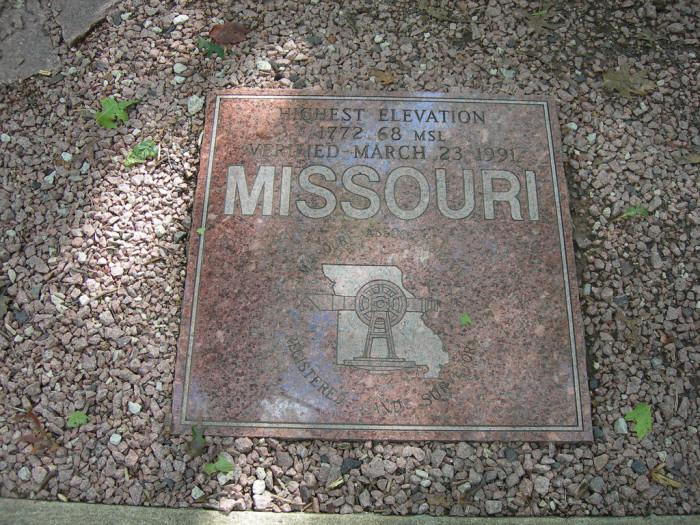Highest Point in Missouri Marker