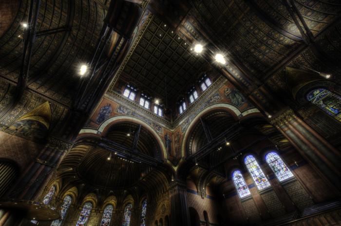 4. Trinity Church ceiling in Boston