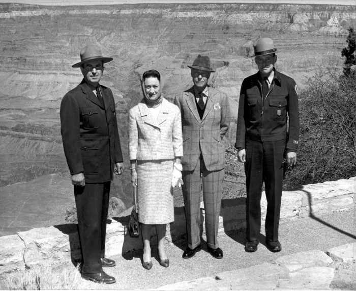 15. And, finally, let's wrap this up with a photo of a pair of famous visitors at the Grand Canyon in 1959.