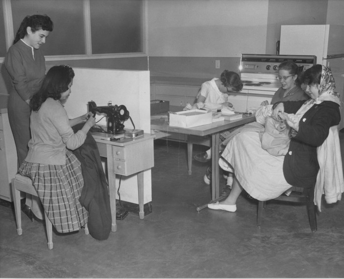 13. These girls were in the middle of a home economics class at the brand new Grand Canyon High School in 1959.